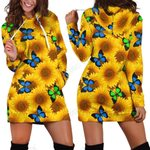 3D All Over Printing Butterfly Garden And Sunflowers Legging