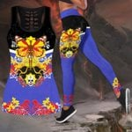 Butterfly Love Skull and Tattoos tanktop legging outfit for women QB05192002