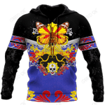 Butterfly Love Skull 3D all over printed for man and women QB05192002
