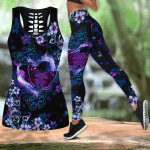 Beautiful Butterfly - Purple Ribbon Combo Tank Legging JJ290401