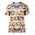 3D All Over Printed Butterfly Collection Shirts