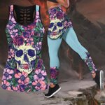 Butterfly Love Skull and Tattoos tanktop legging outfit for women QB05252004