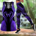Purple butterfly legging hollow tank combo HAC150402