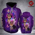 TT Butterfly Yorkshire Terrier HOODIE 3D