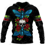 Butterfly Love Skull 3D all over printed for man and women QB05192001