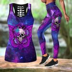 Skull Galaxy Butterfly tanktop legging outfit for women