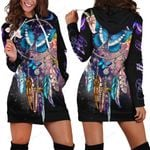 3D All Over Amazing Butterfly Hoodie Dress Blanket