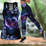 Beautiful Butterfly -Autism Ribbon Combo Tank Legging JJ290402