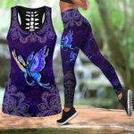 Butterfly legging hollow tanktop combo HAC270301