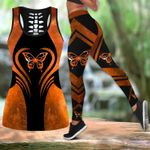 Orange butterfly legging hollow tank combo HAC160401