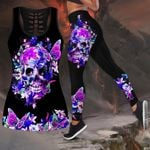 Butterfly Love Skull and Tattoos tanktop legging outfit for women