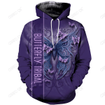 Butterfly Tribal 3D All Over Printed Clothes BF1