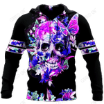 Butterfly Love Skull 3D all over printed for man and women QB05252002