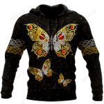 Butterfly Love Skull 3D all over printed for man and women QB05202001
