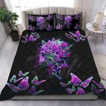 Quilt bedding set butterfly love skull PL