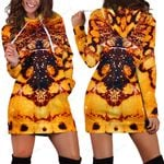 3D All Over Butterfly Hoodie Dress Blanket