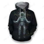 3D all over print astronaut with butterfly