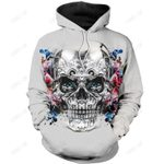 SKULL AND BUTTERFLY 3D ALL OVER PRINTED SHIRTS FOR MEN AND WOMEN PL279