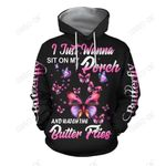 3D All Over Print Amazing Butterfly Art Hoodie