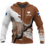 Friendly Highland Cow Hoodie 1