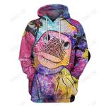 3D All Over Print Colourful Cow Hoodie