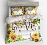 Bedding set Cow sunflower