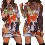 3D All Over Printed Beautiful Cow Hoodie Dress