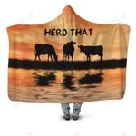 Herd That Cow Hoodie Blanket