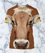 3D All Over Printed Cow Shirt