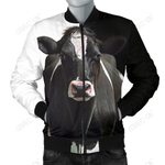 Mens Bomber Jacket - Dairy Cow
