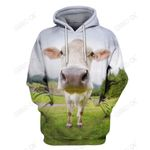 3D All Over Print Lovely Cow Hoodie