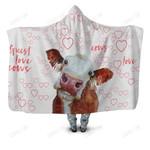 Farmer Guest Best Cow Hoodie Blanket
