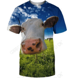 3D All Over Print Lovely Cow Shirt