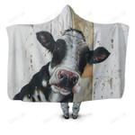 Cow Kids Cute Hoodie Blanket
