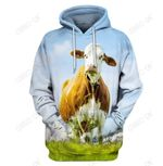 3D All Over Print Cute Cow Hoodie