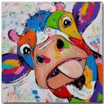 Canvas - Cow Oil Painting