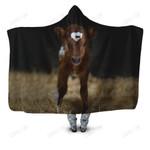 Beautiful Baby Cow Hoodie Blanket
