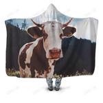 Cow Kids Hoodie Blanket