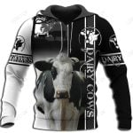 Dairy Cow Hoodie T-Shirt Sweatshirt for Men and Women NM121102