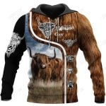 Highland Cattle Cow Hoodie T-Shirt Sweatshirt for Men and Women NM121108