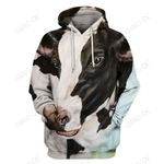 3D All Over Print Cow Painting Hoodie