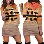 Herd That Cow Hoodie Dress
