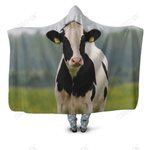 3D All Over Printed Dutch Cow Hoodie Blanket