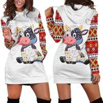 Cow Farmer Hoodie Dress