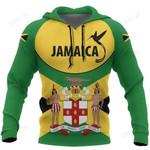 Jamaica Doctor Bird Hoodie Coat Of Arms Map Th5