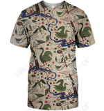 3D All Over Print Bird Vintage Shirt