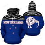 Kiwi Bird New Zealand All Over Hoodie BN01