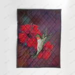 Hawaii Hibiscus And Bird Quilt Blanket J9