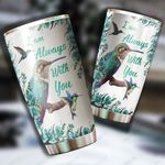 Blue hummingbird I am always with you tumbler HG HAC180101