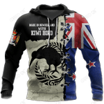 New Zealand Kiwi Bird Silver Fern T-Shirt Hoodie Zip all over shirts For Men and Women TR281203